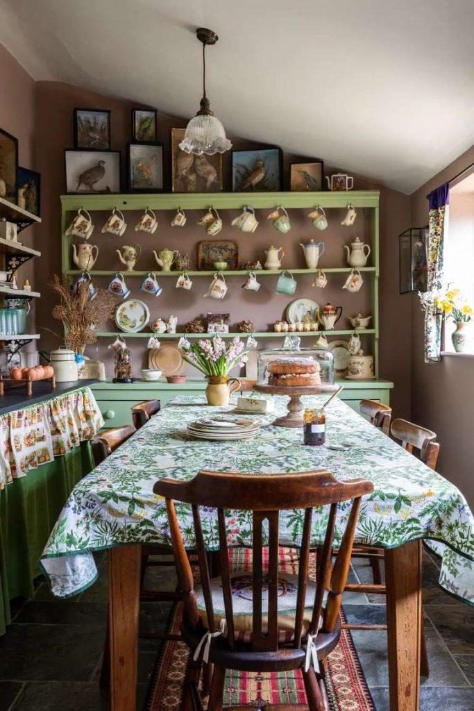 آشپزخانه سبک کلبه