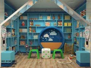 طراحی داخلی کتابخانه