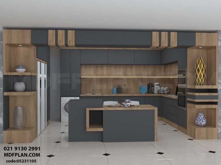 کابینت آشپزخانه جزیره ای مدرن