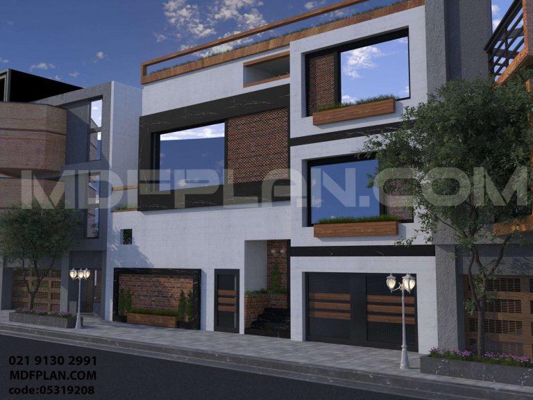 نمای بیرونی ساختمان یک طبقه