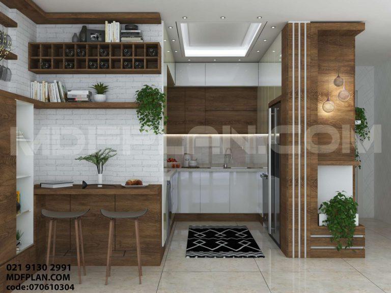 بار آشپزخانه مدرن