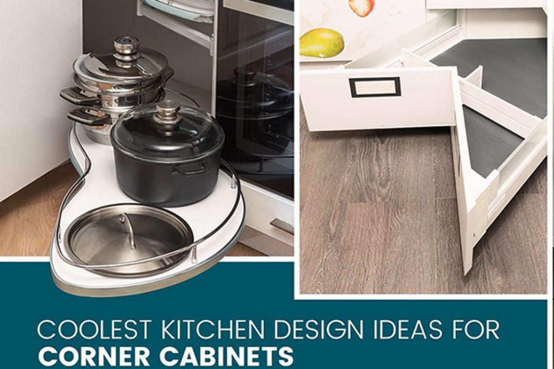 ایده طراحی کابینت گوشه